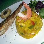 recette Riz safrané aux crevettes