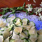 recette Carpaccio de courgettes crues