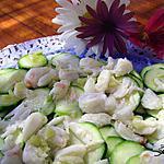 recette Carpaccio de courgettes au crabe
