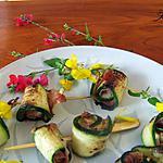recette Roulés de courgettes au gorgonzola - mascarpone