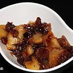 recette Chutney pommes et raisins secs