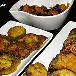 recette Aubergines et courgettes pakora
