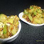 recette cubes de courgettes poelés à l'orientale