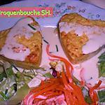 recette Petits coeurs au surimi, poireaux et sa sauce citronnée moutarde