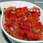 recette Salade froide de poivrons et tomates
