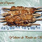 recette Yakitori de poulet au sésame