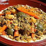 recette Couscous poulet, agneau et légumes