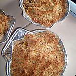 recette Crumble de tomates et crevettes au curry