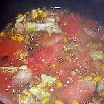 recette Fondue exotique de pastèque au mais