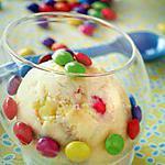 recette Glace coloré aux smarties