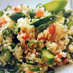recette Salade de couscous aux asperges et tomates