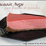 recette Bavarois leger aux fraises & spéculos