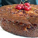 recette Gâteau aux cerises caramélisées