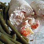 recette roulé, poulet écrevisses