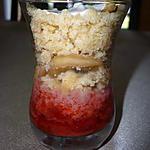 recette Verrine fraise banane sablé