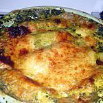 recette quenelles gratinées sur un  lit d'épinard a la creme