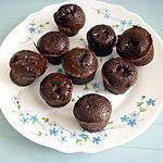 recette MINIS FONDANTS TOUT CHOCOLAT