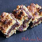 recette Carrés croustillants aux flocons d'avoine & chocolat