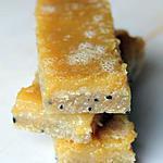 recette Barre au citron & au nigelle