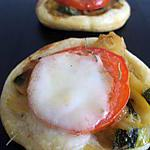 recette MINIS TARTELETTES courgette tomate mozza