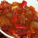 recette Salade chaude de poivrons rouges et tomates