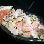 recette crevettes acidulées au gingembre et sésame