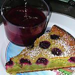 recette Fondant pistaches, framboises et sa soupe de framboises au combava