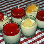 recette Panna cotta vanillée et son coulis de fraises