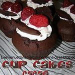 recette cupcakes cacao framboise