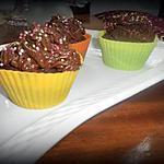 recette Cupcake au chocolat noir corsé coeur aux mirabelles