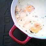recette Oeuf cocotte au roquefort