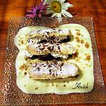 recette Biscuits cuillers garnies aux cerises, toblerone , chantilly sur lit de crème anglaise