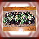 recette Tartare de betteraves aux noisettes, sauce verte