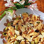 recette Salade de pâtes , courgettes, parmesan et basilic  au  wok