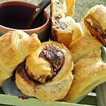 recette Mini viennoiseries fourré au nutella