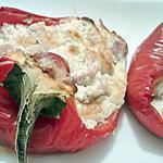 recette Poivrons farci au bacon et mascarpone gorgonzola