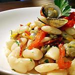 Salade de haricots Tarbais, coques, tomates confites et chorizo...