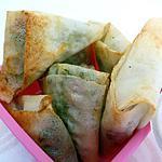 recette Samossas aux petits pois et jambon