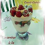 recette Tiramisu à la framboise