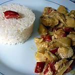recette Poulet curry coco poivrons pommes