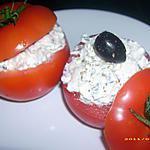 recette tomates aux deux chèvres et aux olives