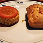 recette Petit pain au saumon avec son cercle de semoule-tomate