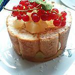 recette Charlotte ananas/rhubarbe