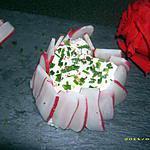 recette mini charlotte de radis au coeur frais