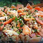 recette Salade aux lentilles et saumon fumé