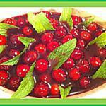 recette Soupe de cerises au vin aromatisée à la menthe