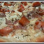 recette Pizza saumon fumé - crème fraiche