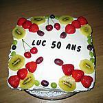 recette Gâteau d'anniversaire crème fraiche et fruits d'été