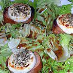 recette Salade de chèvre chaud au sirop de Liège