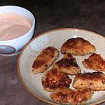 recette Nuggets maison et sauce rose